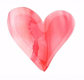 Watercolor-red-heart-icon-clipart-vector