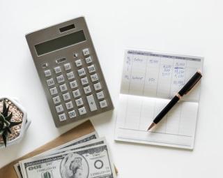 Checkbook and cash