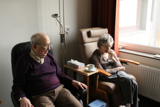 Old couple in home