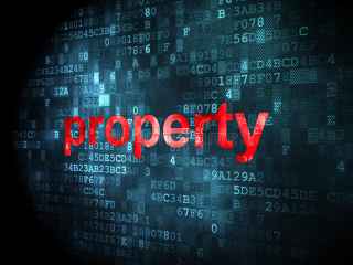 Business-concept-property-digital-background-pixelated-words-d-render-30563614